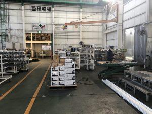 工場が稼働し始めました。